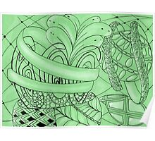 Zentangle plant Poster