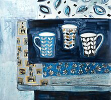 cups in conversation by HelenAmyes