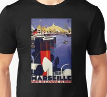 Marseille Vintage Travel Poster Restored Unisex T-Shirt