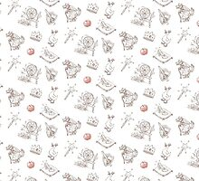 "Fairy Tale ""Sprookje"" Pattern: Sienna and Red by rachellemeyer"