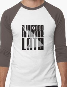 A Wizard is Never Late Men's Baseball ¾ T-Shirt