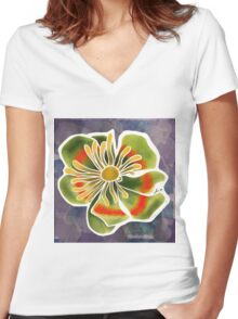 Fantasy Flower Women's Fitted V-Neck T-Shirt