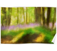 Sussex Bluebell Wood Poster