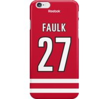 Carolina Hurricanes Justin Faulk Jersey Back Phone Case iPhone Case/Skin