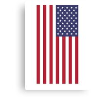 USA Flag Car Bumper Sticker - American Patriot Canvas Print