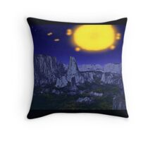 Meteor Summoned Throw Pillow