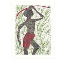 african hunter Art Print