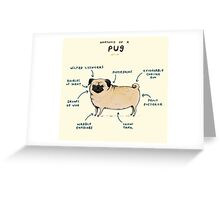 Anatomy of a Pug Greeting Card