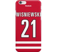 Carolina Hurricanes James Wisniewski Jersey Back Phone Case iPhone Case/Skin