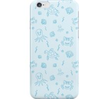 Seamless pattern with hand drawn sea life. iPhone Case/Skin