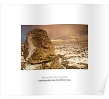 Ingleborough from Scales Moor, Ingleton, Ribblesdale, Yorkshire Dales Poster