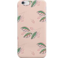 Seamless pattern with leaves and berries.  iPhone Case/Skin