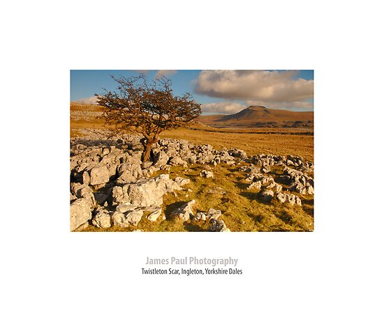 Ingleborough from Twistleton Scar, Ingleton, Ribblesdale, Yorkshire Dales by James Paul