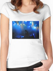 Music in Blue - Montreal Jazz Festival Women's Fitted Scoop T-Shirt