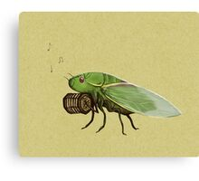 Cicada Playing a Squeezebox Canvas Print