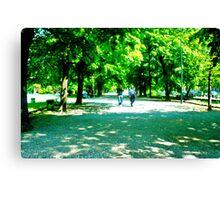 walking through the trees Canvas Print