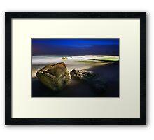 Whale Beach Softness Framed Print