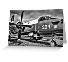 Vintage Fighter Aircraft Lockheed Neptune (Mono) Greeting Card