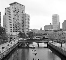 Providence Waterfront RI by John  Kapusta
