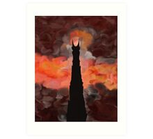 The Tower of Sauron Art Print