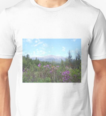 Flowers and the Mountain Unisex T-Shirt