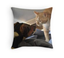 Willy Meets Max Throw Pillow