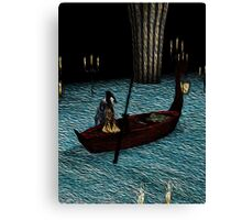 Christine on phantom's boat alone again Canvas Print