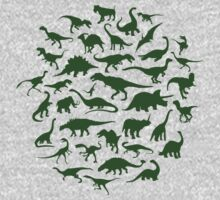 DINOSAURS - dark green Kids Clothes