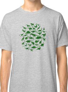 DINOSAURS - dark green Classic T-Shirt