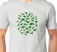 DINOSAURS - dark green Unisex T-Shirt