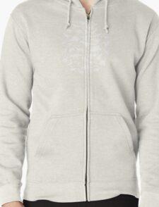 DINOSAURS - white Zipped Hoodie