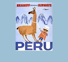 Peru Vintage Travel Poster Restored Unisex T-Shirt