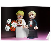 Lego Bride and Groom Poster