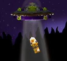 Lego Alien Abduction by Kevin  Poulton - aka 'Sad Old Biker'