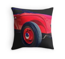 RED RAD ROADSTER Throw Pillow