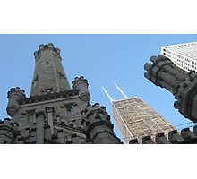 Chicago Water Tower & John Hancock Building Photographic Print