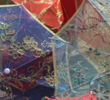 China - silk parasols in the market Sticker