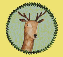 Deer Portrait Kids Clothes