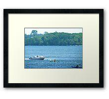 Kayaking along the Maine coast Framed Print