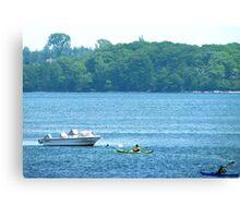 Kayaking along the Maine coast Canvas Print