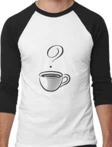 Coffee? Men's Baseball ¾ T-Shirt