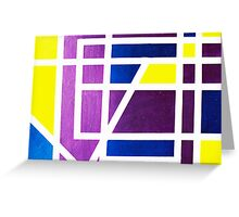 JUNE in abstract art Greeting Card