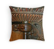 Gearing Up the Mill Throw Pillow