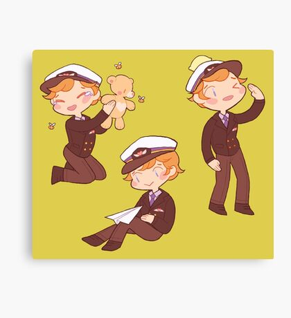 captain martin 'cutie' crieff Canvas Print