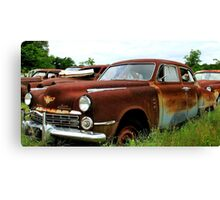 Metal Decay Land Cruiser Canvas Print