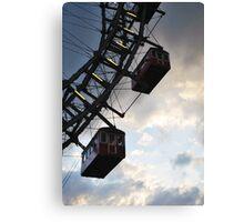 Worlds Oldest Ferris Wheel in Vienna, Austria Canvas Print