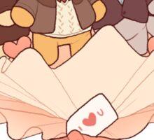 bearlock bouquet Sticker