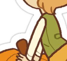 back that pumpkin butt up Sticker