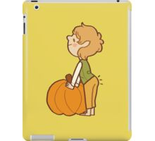 back that pumpkin butt up iPad Case/Skin