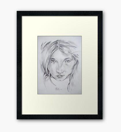 blonde girl Framed Print
